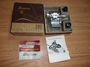 REVERE S-200 FILM SPLICER IN ORIGINAL BOX 8MM 16MM