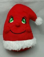 Santa Hat Red Green Eyes Red White Smiling Christmas 2011 Kelly Toy Plush 11""