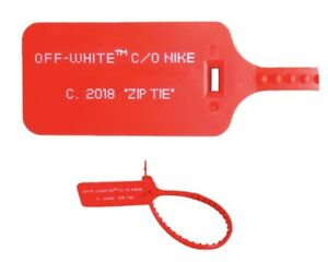 Zip Tie Nike X Off White Virgil Abloh Vapormax Neuf TAG 2018
