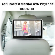 10.1'' HD Car Headrest Monitor DVD Player Kit USB/SD/HDMI/FM/Game TFT LCD Screen