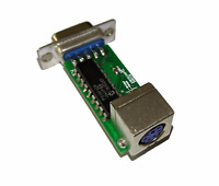 New PS/2 to Amiga 500 600 1200 2000 3000 4000 Mouse Adapter Converter PS2