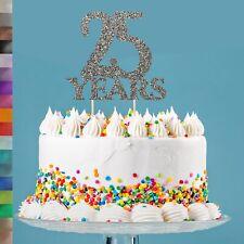 25th Plata Aniversario de Bodas Brillo Cake Topper Celebración Fiesta