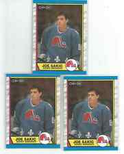 3 CARD LOT OF O-Pee-Chee 1989-90 QUEBEC NORDIQUES JOE SAKIC ROOKIE CARDS