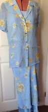 ESCADA OUTFIT SET 3 ITEMS SKIRT VEST TOP AND BLOUSE SIZE 36 UK 8 100% SILK