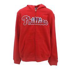 Philadelphia Phillies MLB Majestic Kids Youth Size Full Zip Hooded Sweatshirt