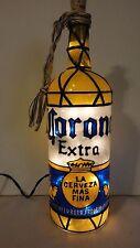 Corona Extra Inspired Bottle Lamp Bottle Light Hand Painted