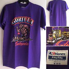 Vintage Gorilla Enterprises T-Shirt Made In USA 80s 90s Big Rig Truck Semi M
