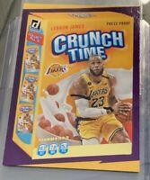LEBRON JAMES 2020-21 Donruss CRUNCH TIME Gold Press Proof LA Lakers SP PRISTINE