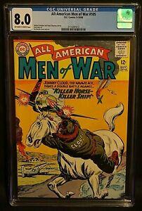 All American Men Of War #105 CGC 8.0, Johnny Cloud, Silver Age 1964 DC Comics