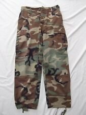US military issue camo pants trousers hot weather woodland combat nylon S Short