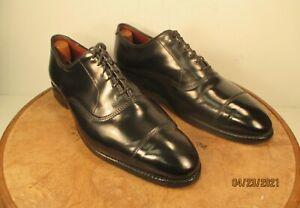 "Allen Edmonds ""PARK AVENUE"" Black Cap-Toe Shell Cordovan Oxfords size 9.5 2E"