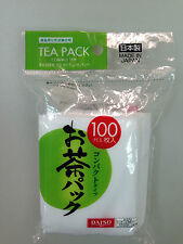 DAISO JAPAN MADE IN JAPAN TEA PACK COMPACT TYPE 100 PCS