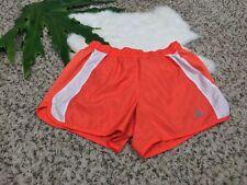 Adidas Woman Sport Short Pant Athletic Exercise Workout Lined Orange White Sz S