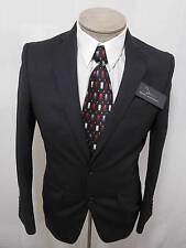 Marc Anthony Mens 100% Wool Sport Coat Blazer Slim Black Woven Stripe 40L $240