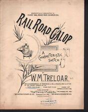 Railroad Gallop 1893 Large Format Sheet Music