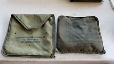 US Army Military 1978 Orthopedic Equipment Co Field Canvas Heat Pad w Snap Pouch