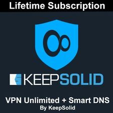 KeepSolid VPN Unlimited + Smart DNS Lifetime Subscription 5-Devices (NOT SHARED)