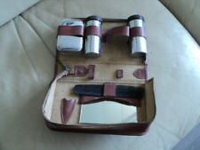 Vintage Mens Shaving Grooming Kit With Leather Case