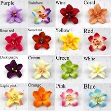 10/20Pcs 8cm Artificial Silk Orchid Flower Head Buds Petals Bouquets DIY Craft
