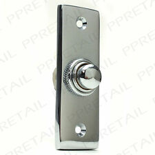 75mm POLISHED CHROME DOOR BELL BUTTON Front Porch Ring Press/Push Plate Knocker