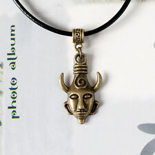 Supernatural Dean Winchester's Amulet Charm on Real Black Leather Cord Necklace