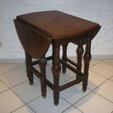 alter Beistelltisch Klapptisch Gateleg Tisch Eiche 8-beinig massiv