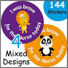 'I Was Brave For The Nurse' Reward Stickers School Health Teachers Praise Kids