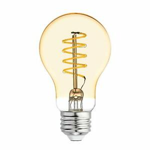 GE Lighting 36505 Amber Glass Light Bulb Dimmable LED Vintage Style A19 5
