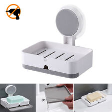 Adhesive Soap Dish Holder,2 Usages Wall Mounted and Placing for Bathroom