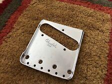 """Glendale The Vintage Blackguard """"Double-Cut"""" Telecater Bridge Plate - Chrome"""