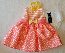 Mädchen Kleid SOMMERKLEID 3tlg Taft mit Petticoat und Höschen + Stirnband NEU