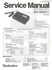 TECHNICS SH-8000 SH 8000 - AUDIO ANALYZER - SERVICE MANUAL IN COLOR VERSION -