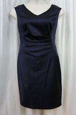 Ralph Lauren Dress Sz 14 Deep Sapphire Blue Sleeveless Solid Cocktail Evening