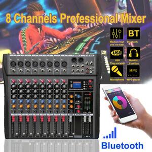 8-Kanal Power Mixer Mischer Live Mischpult USB MP3 Player Fachmann Handbuch