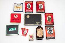 Tobacco Cigarette Tin Camel Kool Prince Albert Walter Raleigh Garrett Snuff