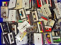25 Cassette Tapes USED Arts & Crafts Projects Party Decor Grab Bag Random Mix