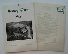 Restaurant Menu For The Hickory Grove Inn Lake Otesgo, Cooperstown New York
