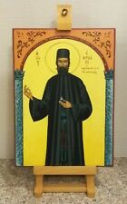 """*Religious Russian or Greek Orthodox Style Painted Icon on Wood  9""""x12 *CHURCH"""