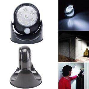 360° Battery Power Motion Sensor Security LED Light Garden Outdoor Indoor PIR