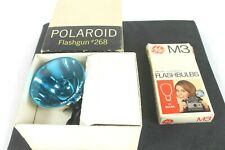 Polaroid Flashgun 268 With 6 GE M3 Clear Flashbulbs And Boxes Tested Works Great
