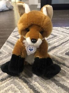 Rare Build A Bear St Louis Zoo Red Fox With Medallion Plush Exclusive WildCare