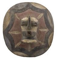 Scudo Songye Kifwebe Rdc Ex Zaire 34 CM Arte Tribale Africano 16615