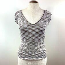 Women's J. Crew Cotton Blouse Stretchy Waist Short Sleeve Multicolor Size Medium