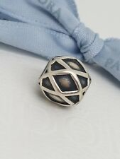 Authentic Pandora Sterling Silver Harlequin Charm Retired Bead 790165