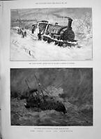 Old 1891 Flying Dutchman Train Camborne Cornwall Ship Channel Dover P Victorian
