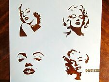 Marilyn Monroe Profile 4 Faces Reusable Stencil / Template 10 mil Mylar