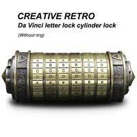 Cadeau d'anniversaire retro creatif Verrou de chiffrement de lettre Da Vinc H8E4