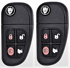 2 Jaguar X-Type / S-Type / XJ-Series 2000-2009 Remote Flip Key Top Quality USA
