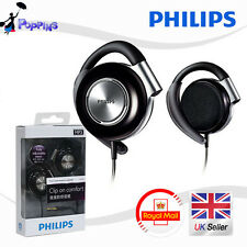 Philips SHS4700 Earclip Stereo Clip On Headphones For CD iPod iPhone etc(Black)