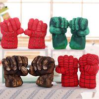 Spiderman Iron Man Hulk Smash Hands Cosplay Gloves Punching Boxing Fists Toys